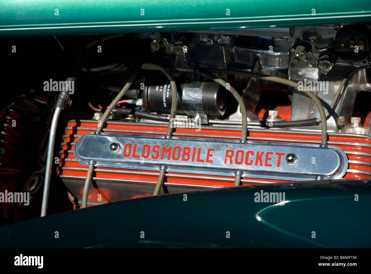 Outstanding A Valve Cover On An Oldsmobile Rocket Engine At A Car Show Stock Renstra Mohammedshrine Wiring Digital Resources Renstramohammedshrineorg