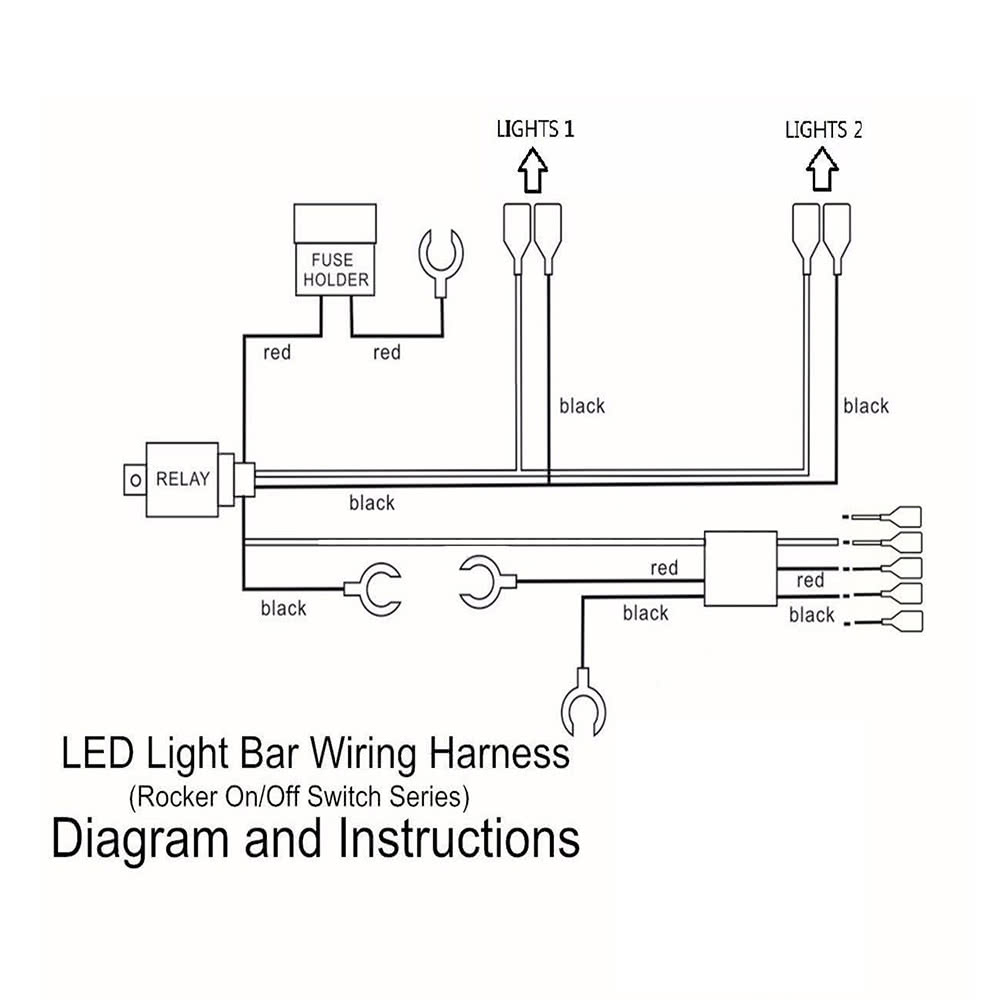 Fine Led Light Bar Rocker On Off Switch With Relay Wiring Harness Kit 12V Renstra Mohammedshrine Wiring Digital Resources Renstramohammedshrineorg