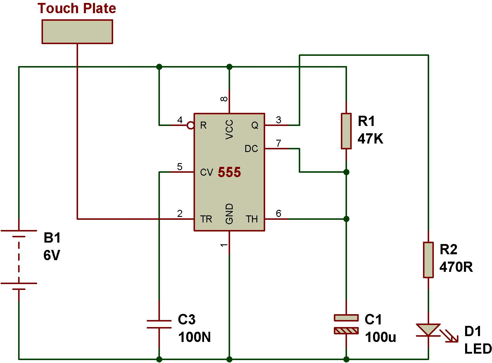 Superb Touch Switch Circuit Using 555 Basic Electronics Wiring Diagram Renstra Mohammedshrine Wiring Digital Resources Renstramohammedshrineorg