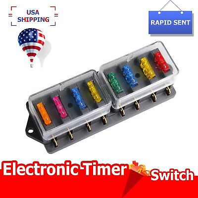 Swell Universal 8Way Circuit Standard Blade Fuse Box Holder Block Car Renstra Mohammedshrine Wiring Digital Resources Renstramohammedshrineorg