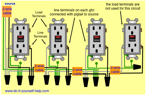 Excellent Wiring Diagrams Multiple Receptacle Outlets Do It Yourself Help Renstra Mohammedshrine Wiring Digital Resources Renstramohammedshrineorg