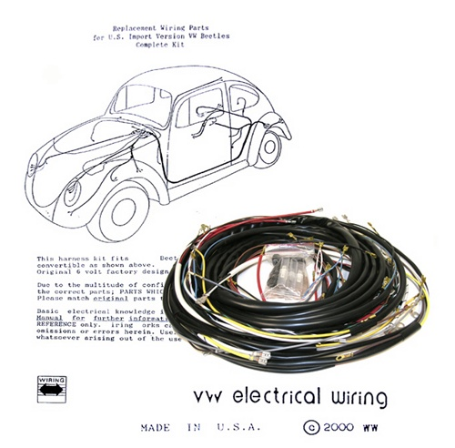 Wondrous Wiring Works Wiringworks Vw Bug Replacement Wiring Harness Wire Renstra Mohammedshrine Wiring Digital Resources Renstramohammedshrineorg