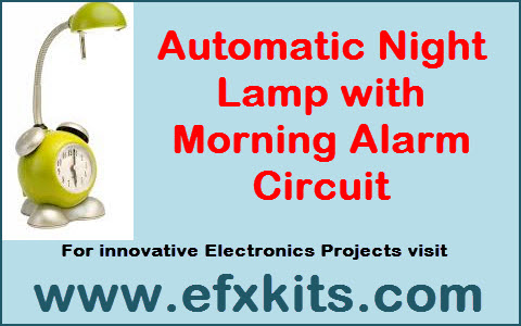 Amazing Automatic Night Lamp With Morning Alarm Circuit Renstra Mohammedshrine Wiring Digital Resources Renstramohammedshrineorg